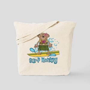 Surf Monkey (girl) Tote Bag