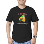 I Love Canoodling Men's Fitted T-Shirt (dark)
