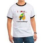 I Love Canoodling Ringer T