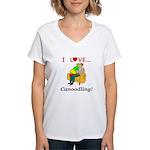 I Love Canoodling Women's V-Neck T-Shirt