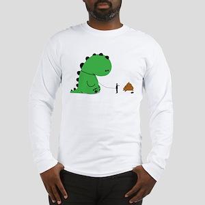 Oh Shit, Funny Dino Long Sleeve T-Shirt