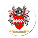 Inkersole Round Car Magnet