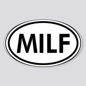 MILF Car Oval Sticker