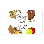 Happy Fall YAll Autumn Thanksgiving Sticker