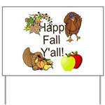 Happy Fall YAll Autumn Thanksgiving Yard Sign