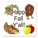 Happy Fall YAll Autumn Thanksgiving Square Car Mag