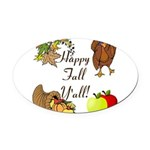 Happy Fall YAll Autumn Thanksgiving Oval Car Magne