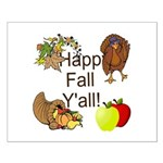 Happy Fall YAll Autumn Thanksgiving Posters