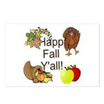 Happy Fall YAll Autumn Thanksgiving Postcards (Pac