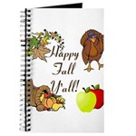 Happy Fall YAll Autumn Thanksgiving Journal