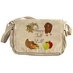 Happy Fall YAll Autumn Thanksgiving Messenger Bag