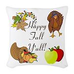 Happy Fall YAll Autumn Thanksgiving Woven Throw Pi