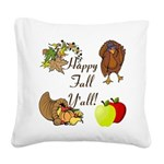 Happy Fall YAll Autumn Thanksgiving Square Canvas