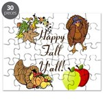 Happy Fall YAll Autumn Thanksgiving Puzzle