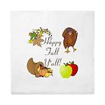 Happy Fall YAll Autumn Thanksgiving Queen Duvet
