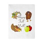 Happy Fall YAll Autumn Thanksgiving Twin Duvet