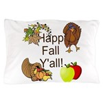 Happy Fall YAll Autumn Thanksgiving Pillow Case