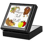 Happy Fall YAll Autumn Thanksgiving Keepsake Box