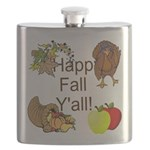 Happy Fall YAll Autumn Thanksgiving Flask