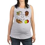 Happy Fall YAll Autumn Thanksgiving Maternity Tank