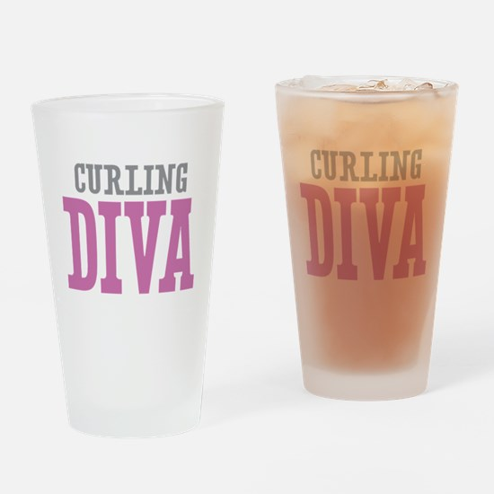Curling DIVA Drinking Glass