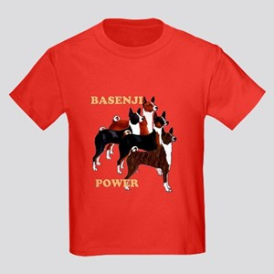 Basenji power Kids Dark T-Shirt