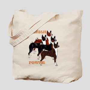 Basenji power Tote Bag