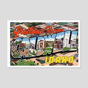 Caldwell Idaho Greetings Mini Poster Print