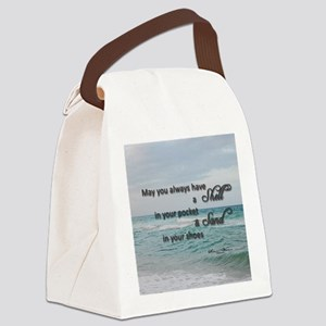 Shell and Sand Canvas Lunch Bag