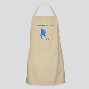 Custom Blue Field Hockey Player Silhouette Apron