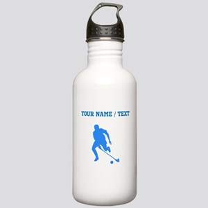 Custom Blue Field Hockey Player Silhouette Water B