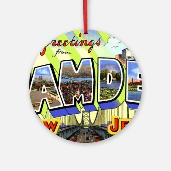 Camden New Jersey Ornament (Round)