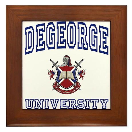 DEGEORGE University Framed Tile