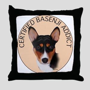 Basenji Addict Throw Pillow