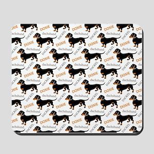 Dachshund Pattern Mousepad
