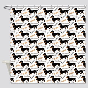 Dachshund Pattern Shower Curtain