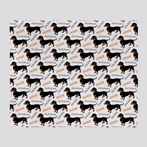 Dachshund Pattern Throw Blanket