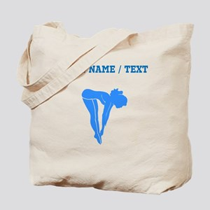 Custom Blue Diver Silhouette Tote Bag