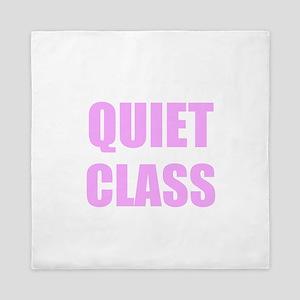 Quiet Class Queen Duvet