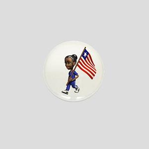 Liberia Girl Mini Button