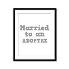 Married to an Adoptee Framed Panel Print