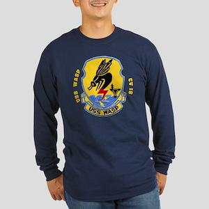 USS Wasp CV 18 Long Sleeve Dark T-Shirt