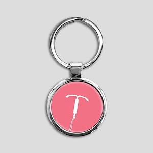Pink IUD Pattern Keychains