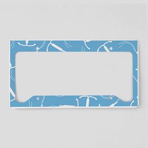 IUD Pattern License Plate Holder