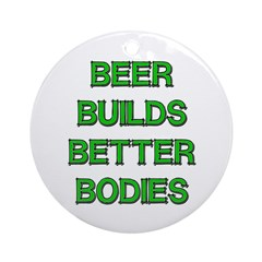 Beer Belly Under Construction Ornament (Round)