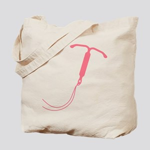 Pink IUD Graphic Tote Bag