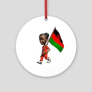 Malawi Girl Ornament (Round)