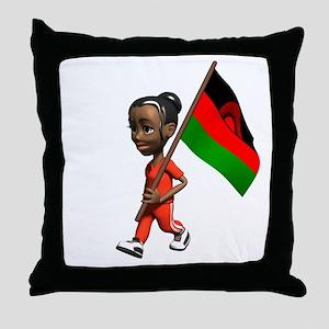 Malawi Girl Throw Pillow