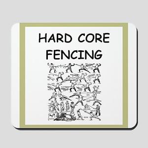 fencing joke Mousepad
