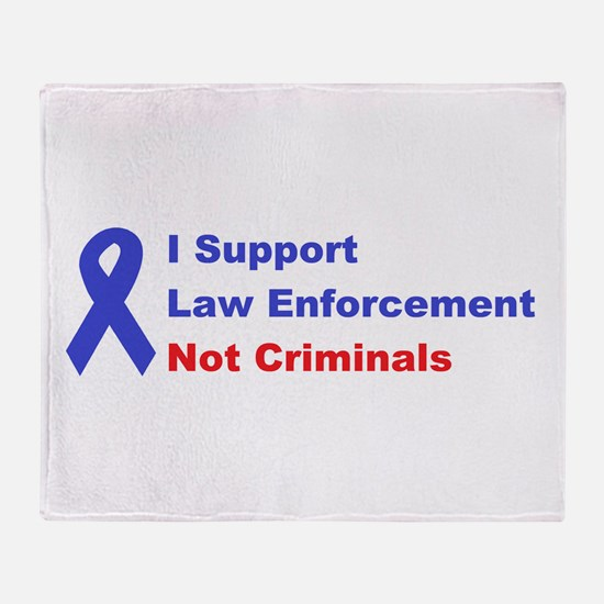 support law enforcement Throw Blanket